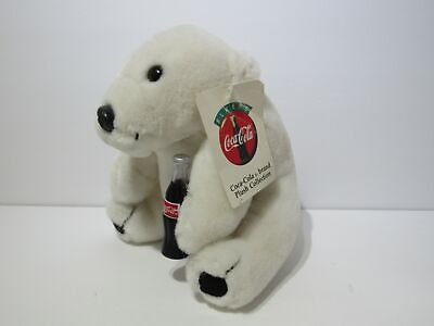 1995 Coca Cola Polar Bear Drinking Coke Plush Collectible