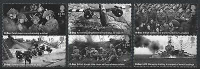 GREAT BRITAIN 2019 75th ANNIVERSARY D-DAY LANDINGS FINE USED SET OF 6 IN PAIRS