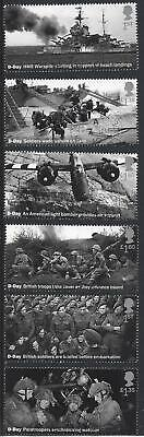 GREAT BRITAIN 2019 75th ANNIVERSARY D-DAY LANDINGS FINE USED SET OF 6 SINGLES