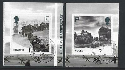 GREAT BRITAIN 2019 75th ANNIVERSARY OF D-DAY  BOOKLET PAIR FINE USED