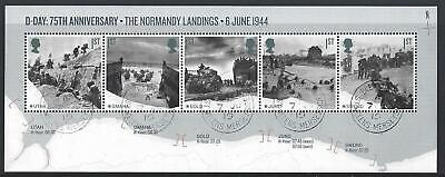 GREAT BRITAIN 2019 75th ANNIVERSARY THE NORMANDY LANDINGS NO BARCODE FINE USED