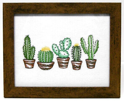 Prickly Pretty Cactus - Framed Embroidery