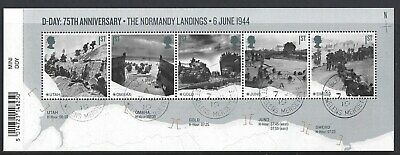 GREAT BRITAIN 2019 75th ANNIVERSARY OF D-DAY ANNIVERSARY MINIATURE SHEET F. USED