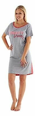 Ladies Night shirt wear dress Short Sleeve Nightie Loungewear Womens Pyjamas