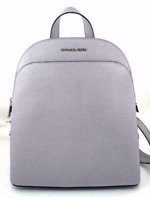 Michael Kors Emmy Saffiano Leather Large Backpack in Lilac