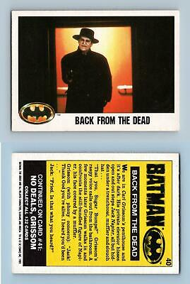 Back From The Dead #40 Batman 1989 Topps Trading Card