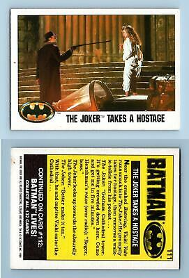 "Knight Patrol #111 Batman 1989 Topps  ""Large"" Trading Card"