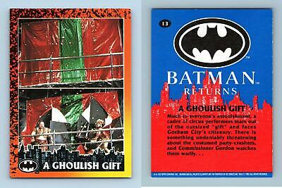 A Ghoulish Gift #13 Batman Returns 1992 Topps Trading Card
