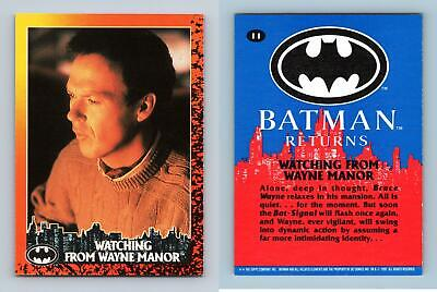 Watching From Wayne Manor #11 Batman Returns 1992 Topps Trading Card