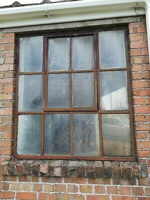6 X Vintage Iron Metal Window Frames With Gl And Swivel Opening
