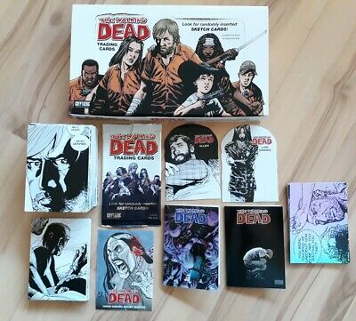 The Walking Dead Comic Trading Cards series 1. Full Base Set. Sketch Card. Box
