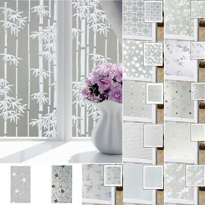 Self Adhesive Privacy Frosted Opaque Window Sticker Glass Vinyl Film Decor UK