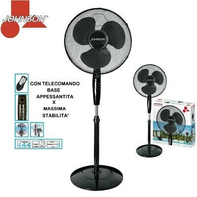 JOHNSON KONTROL FAN VENTILATORE A COLONNA CON TELECOMANDO E TIMER NERO.