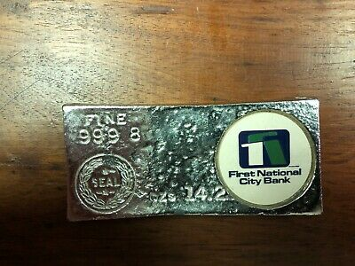 Vintage First National  14.295 Oz Lead Replica Gold Bar Brick Fort Knox Kentucky