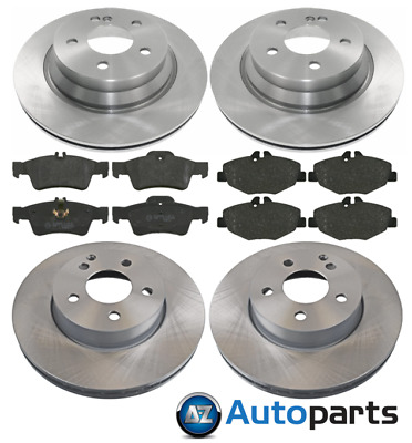 Mercedes E270 2.7 CDI Front Rear Brake Pads Discs Set 295mm 300mm 175BHP SLN