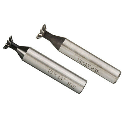 2 Pieces / Sizes 45 Degree HSS Double-edged Dovetail Cutter for Metalworking