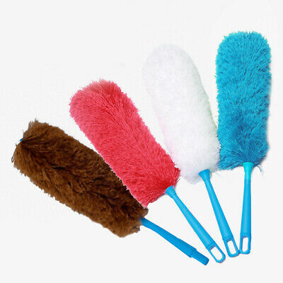 New Cleaning Brush Duster Handle Microfiber Microfibre Car Feather Anti Cleaner