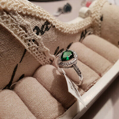 Beautiful AAA Cr Russian Diopside Ring in Sterling Silver