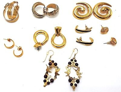 Lot of 8 Pairs Wild Brydes, Trifari, Monet, 1968, Simply Whispers, Reed Earrings