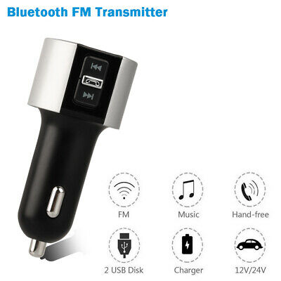 FM Transmitter Radio Adapter Dual USB Fast Charger Mp3 Player Handsfree 5V/3.4A