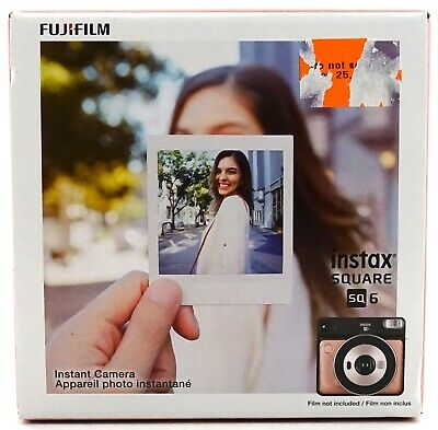 New Fujifilm Blush Gold Instax Square SQ 6 Instant Camera W/ 3 Color Filters