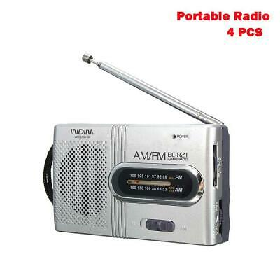 Mini Portable AM FM Telescopic Antenna Radio World Receiver Slim Pocket XG