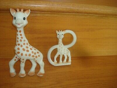 Vulli Sophie the Giraffe Natural Rubber Teether Baby Toy CHOICE Squeaker Plain