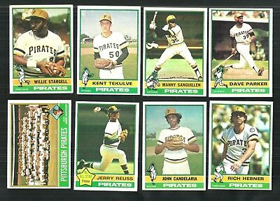 1976 TOPPS PITTSBURGH PIRATES TEAM SET w TRADED (27) STARGELL, PARKER,   EXMT-NM