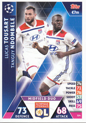TOPPS MATCH ATTAX CL 2018-19 - L.Tousart/T.Ndombele - Lyon - 324 - MIDFIELD DUO