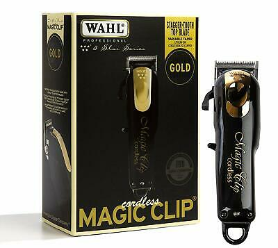Wahl Professional 5-Star Limited Edition Black & Gold Cordless Magic Clip #8148-