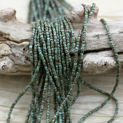 """RARE!!! 9/0  3Cut Blue Turquoise Heavy Picasso Czech seed beads - 1hank, 10/18"""""""