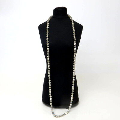Lange Strasskette/Necklace ART DECO USA 50er Jahre