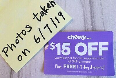 Fast Delivery NOW chewy.com $15 OFF First Order of $49 or more CHEWY COUPON NEW!