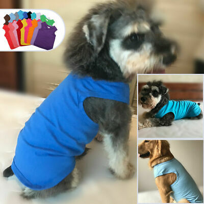 8ee6a0956 Pet Puppy Dog Summer Clothes Top Blank Tee T-shirts for Large Medium Small  Dogs