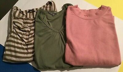 Fashion Bulk Bundle Women's Long Sleeve Top Sz M/12 Lot 3 Items