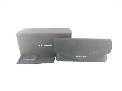 Dolce and Gabbana small black case with black cleaning cloth and and box