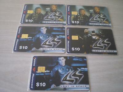 Telstra  Phonecards 5 X $10 Lost In Space Mint Still In Unopened Packets