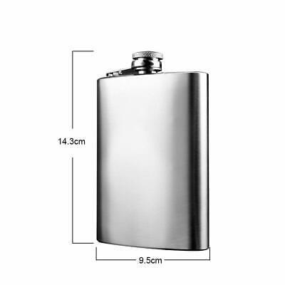Stainless Steel Hip Flask with Funnel, Premier Stainless Hip Flask 8 oz