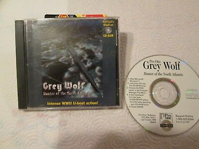 GREY WOLF: HUNTER of the North Atlantic - PC CD Computer game Complete 1994