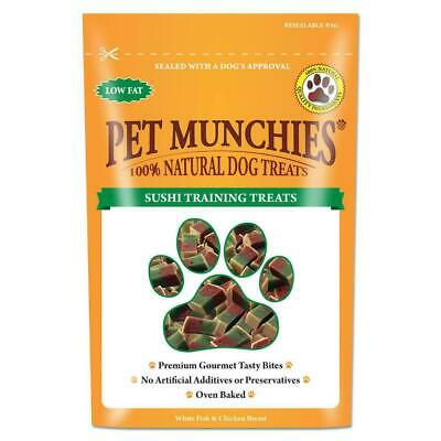 pet munchies sushi  training treats 150g - all natural - value pack