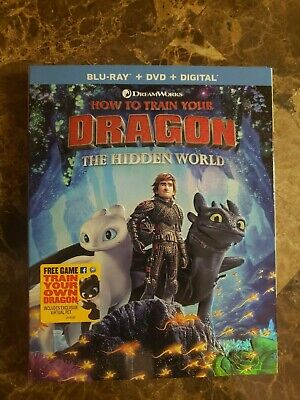 How to Train your Dragon:The Hidden World (Blu-Ray + DVD + Digital) w/SLIP COVER