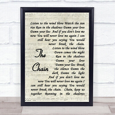 The Chain Quote Song Lyric Print