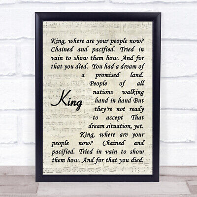King Quote Song Lyric Print