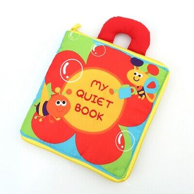 Infant Early cognitive Development My Quiet Bookes Unfolding Cloth Book V3J1