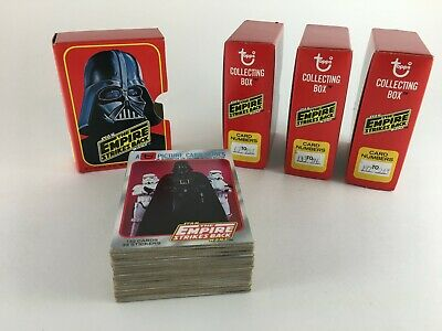 Star Wars Empire Strikes Back 1980 Topps Cards Series 1-2 Collecting Box