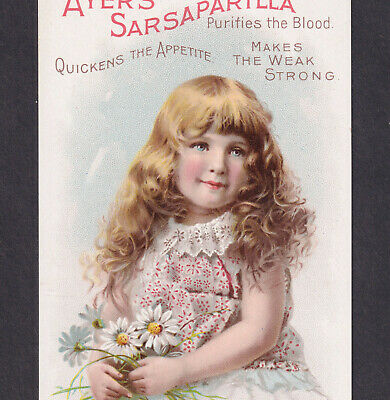 Ayers Sarsaparilla Makes the Weak Strong 1800's Victorian Advertising Trade Card