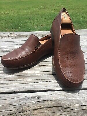 2b4eea6454 Mephisto Cool Air Brown Grain Leather slip on Loafer shoe Men's Size 10.5 M  EUC