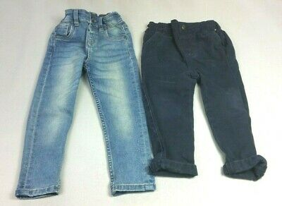 Boys 2-3 Years JEANS Bundle - 2 FOR £5 - Blue Elasticated Waist Skinny
