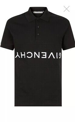 d3f4492a67 NWT Givenchy Black Slim Fit Logo-Embroidered Cotton Men's Polo Shirt: Size  Large