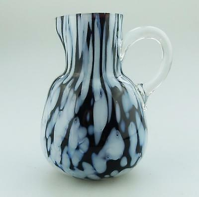 Antique Victorian Glass an end of day glass multi coloured Jug C.19thC